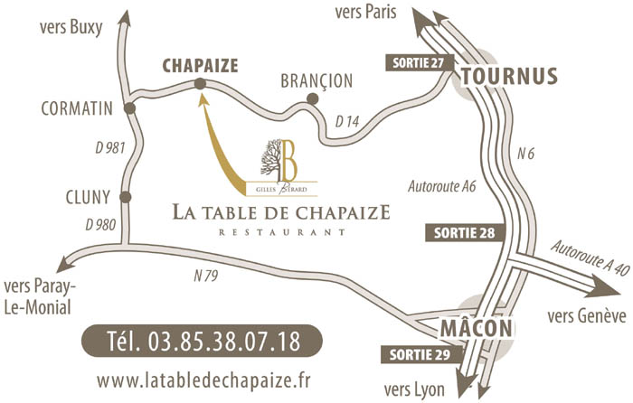 La Table de Chapaize - Gilles BERARD